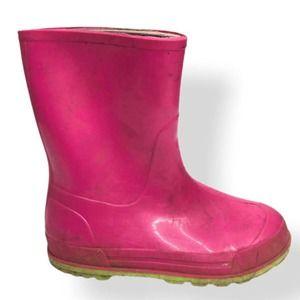 Rubber Kids Rain Boots Bubblegum Pink SZ 13K / 1Y